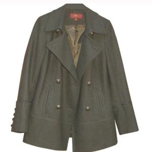 7 For All Mankind Olive Coat